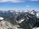 Looking down to Sperry Peak, Headlee Pass, Morning StarPeak