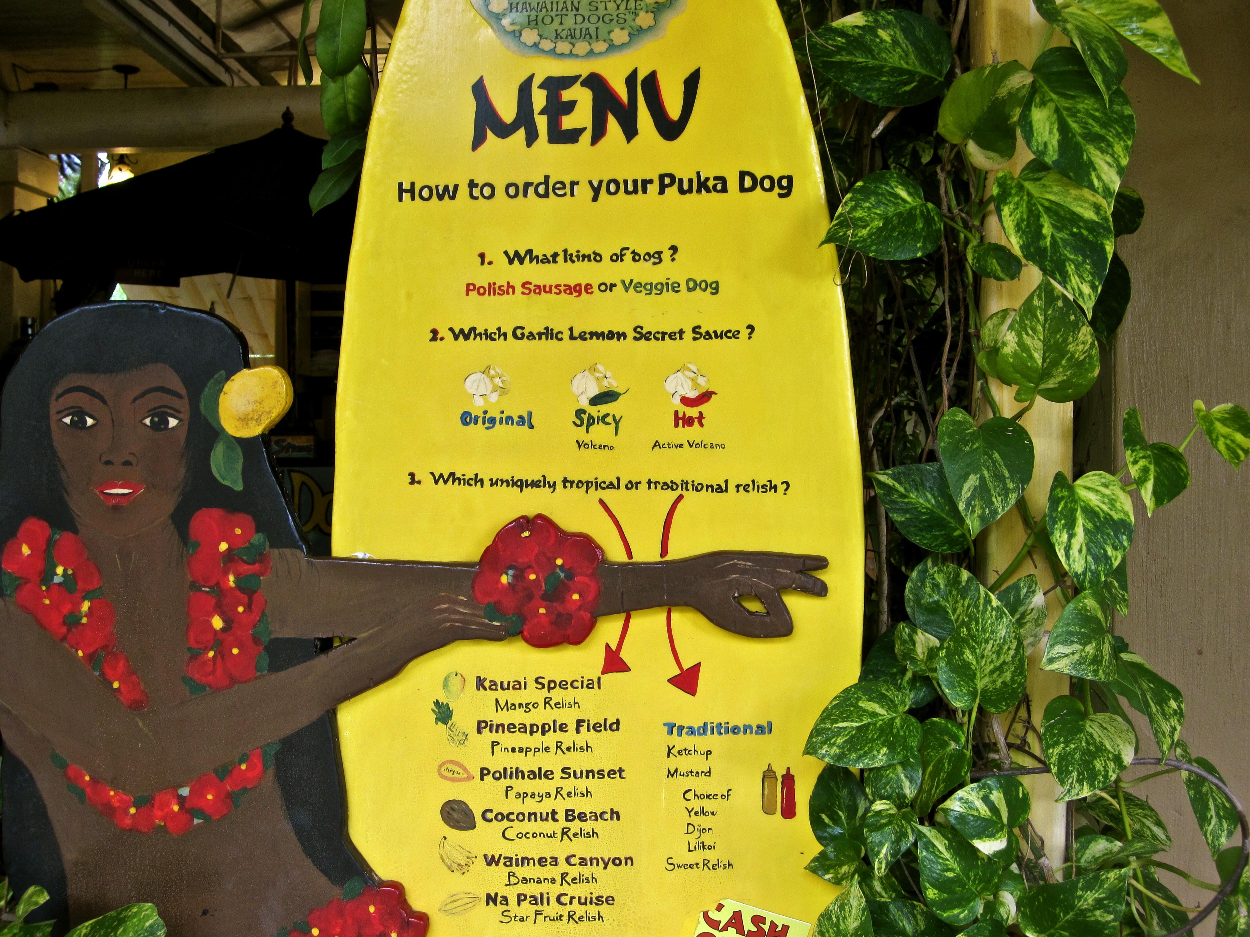Puka Dog Menu Freeheel Vegan