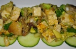 "Togarashi Seared Tofu & Hawaiian Mushroom""Poke"""