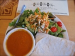 Curried Tempeh Salad with Spicy Tomato Eggplant Soup – IMG_0829