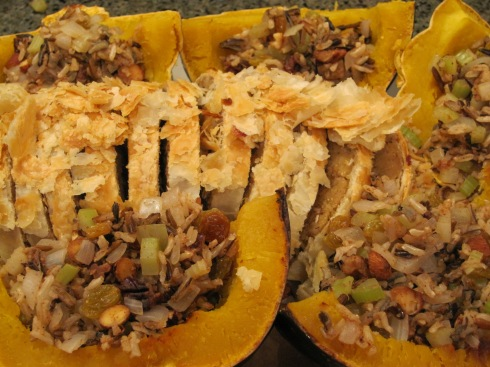 Harvest-Stuffed Acorn Squash - IMG_1084