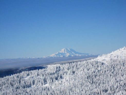 December 30th - Mt Rainier, from Mission Ridge, WA