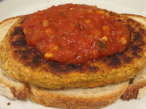 Italian Cannellini Bean Burgers - IMG_2228