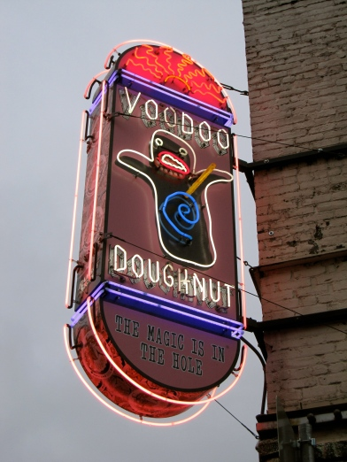 Voodoo Doughnut Sign