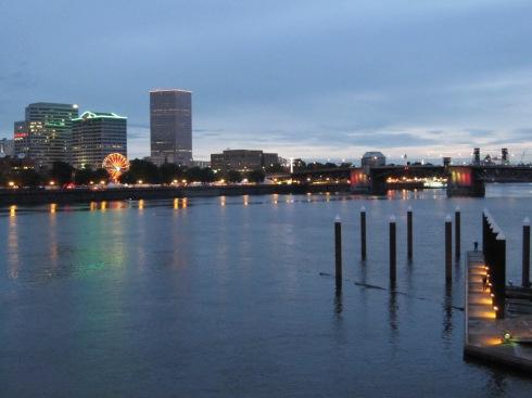Downtown Portland from the Hawthorne Bridge