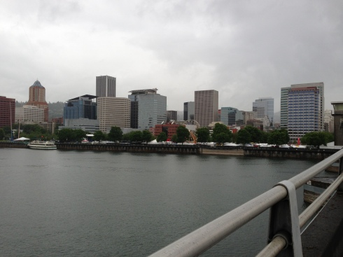 Downtown Portland from Morrison Bridge - photo-11