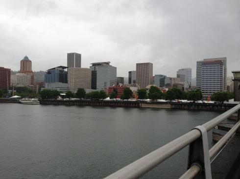Downtown Portland from Morrison Bridge - photo-11