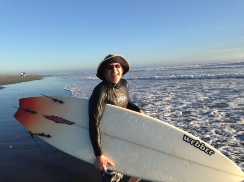 Eric with Surfboard