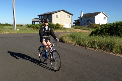 Elisa on the Cruiser Bike
