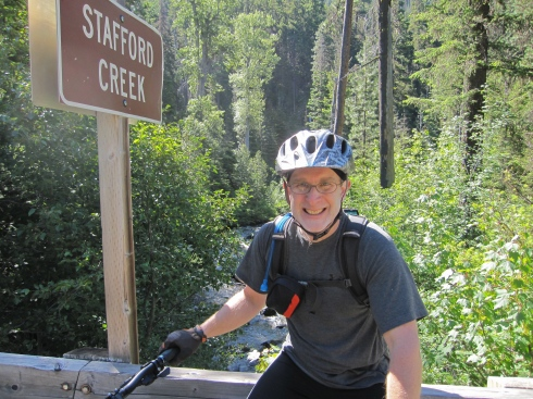 Eric at the trailhead for Stafford Creek
