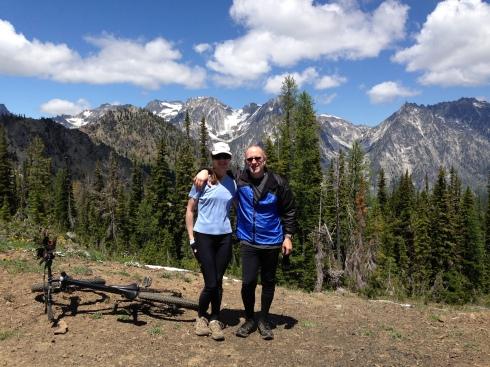 Elisa & Eric at the 6000 ft pass.  (Mt Stuart & the Stuart Range)