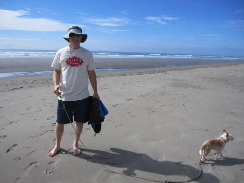 Eric at Ocean Shores, WA - August 17, 2013
