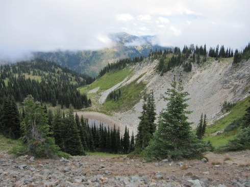 Looking into the ski area - August 24, 2013