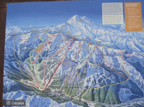 Crystal Mountain ski area map - August 24, 2013