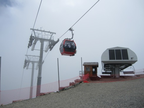 Mt Rainier Gondola & the top of the Rainier Express chair - August 24, 2013