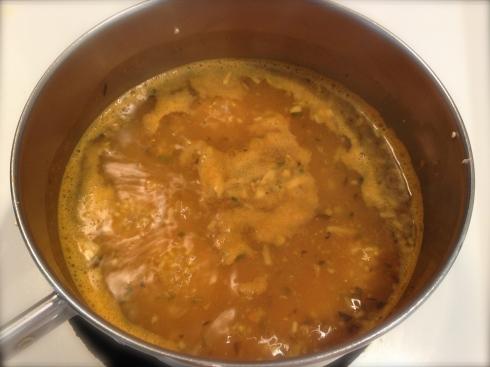 Herbed quinoa simmering