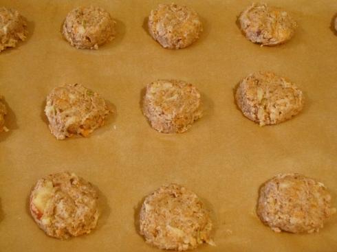 Coco-Hazelnut Snack Cakes (before baking)