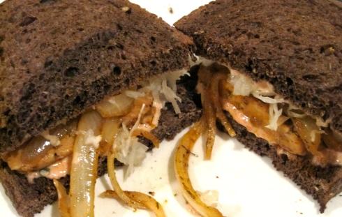 Grilled Tempeh Reuben Sandwich