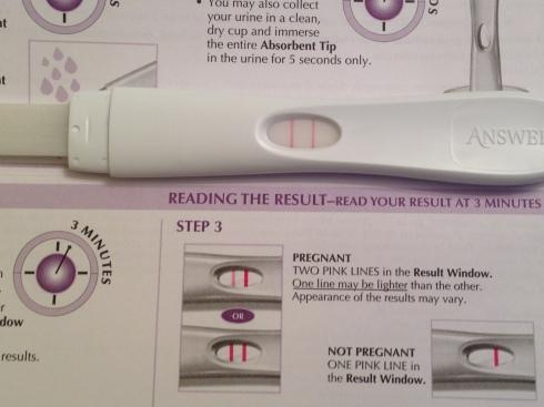 Pregnancy Test - December 6, 2013.