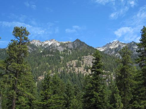 Mountain Views From Icicle Gorge
