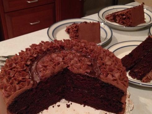Vegan Chocolate & Salted Caramel Cake - November 2, 2014