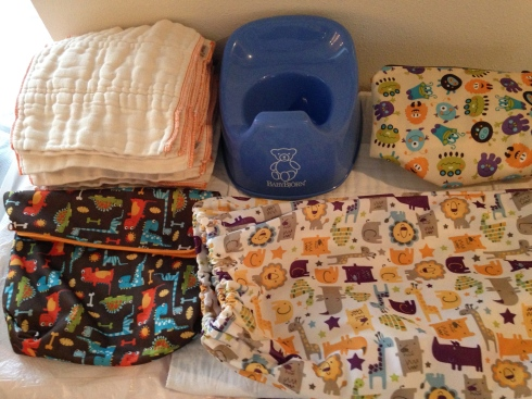 Cloth-eez Prefolds, Blueberry Diaper Bags & Baby Bjorn Potty