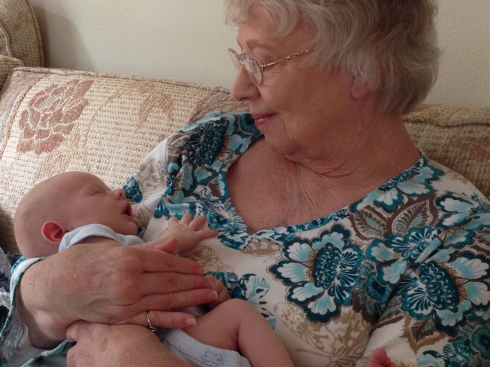 Cuddles from Grammie - September 8, 2014