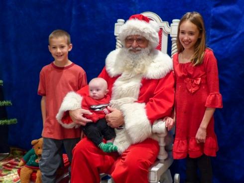 1st Santa Visit - November 29, 2014