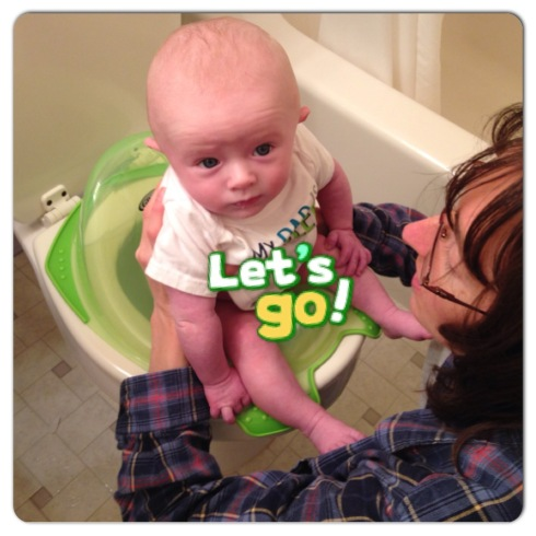 Using the new toilet seat - December 14, 2014
