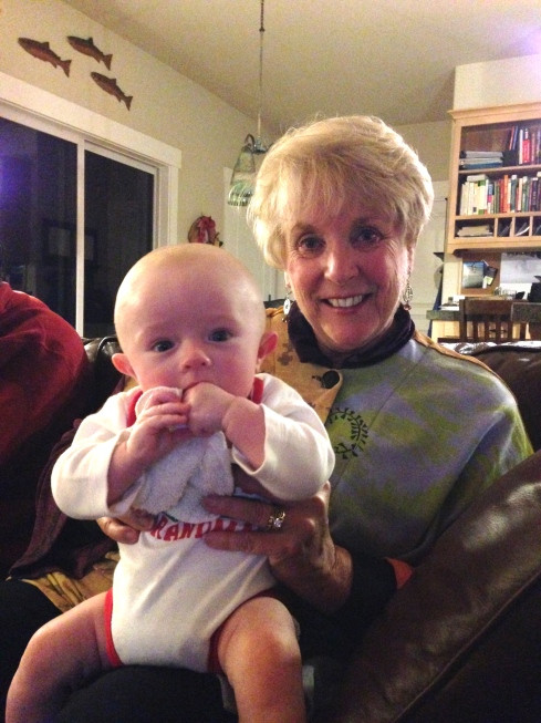 Todd with his great aunt Elaine - December 24, 2014