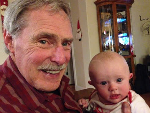 Todd with his grandpa - December 24, 2014