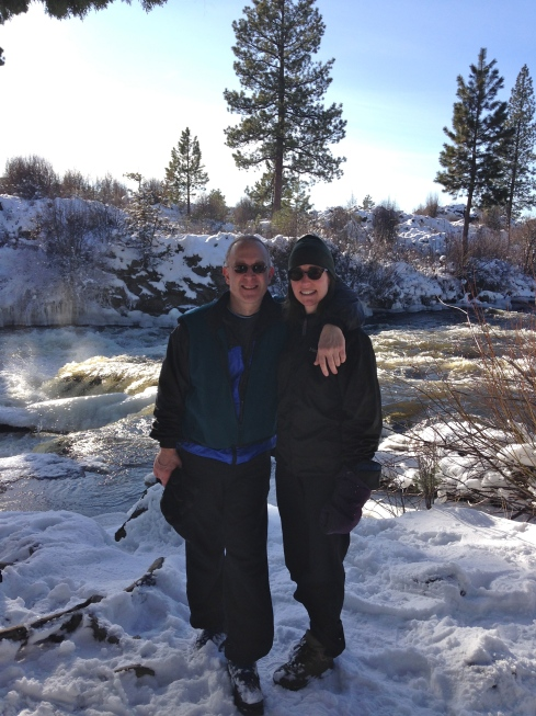 Snow hike along the Deschutes River - January 1, 2015