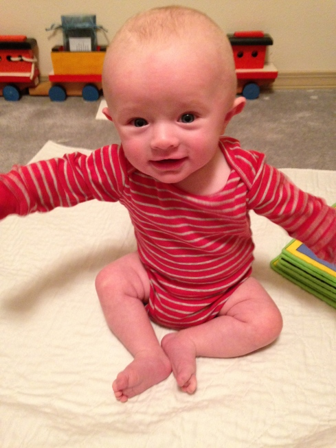 Todd at 4.5 months old - January 5, 2015