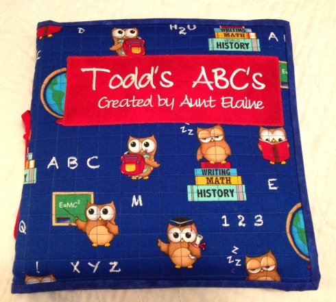 Todd's ABC Book from Aunt Elaine