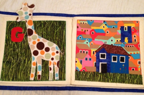 Sample page from the ABC book.  Every page so creatively planned and expertly sewn!