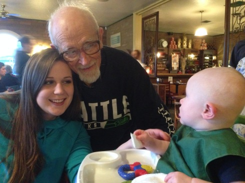 Todd with Cousin Kylie & Grand dad - March 12, 2015
