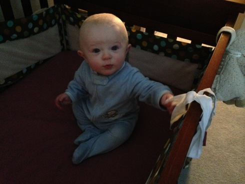 Sitting up in bed - March 3, 2015