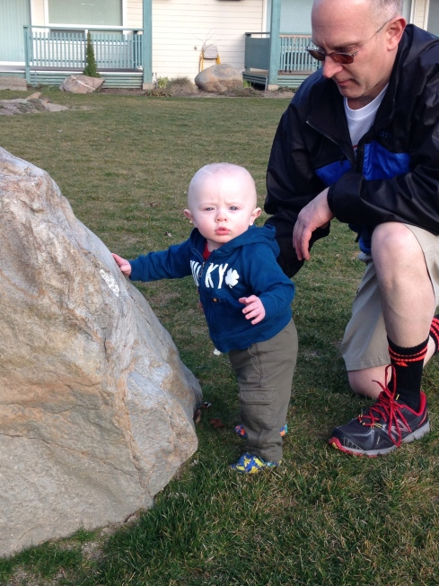 Exploring the condo grounds - March 6, 2015
