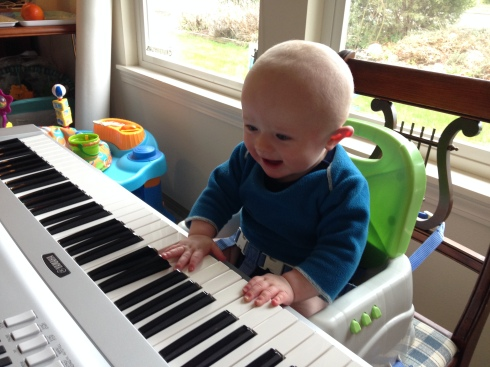 Playing the keyboard - March 14, 2015