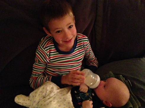 Bottle bonding with Eli - October 16, 2014