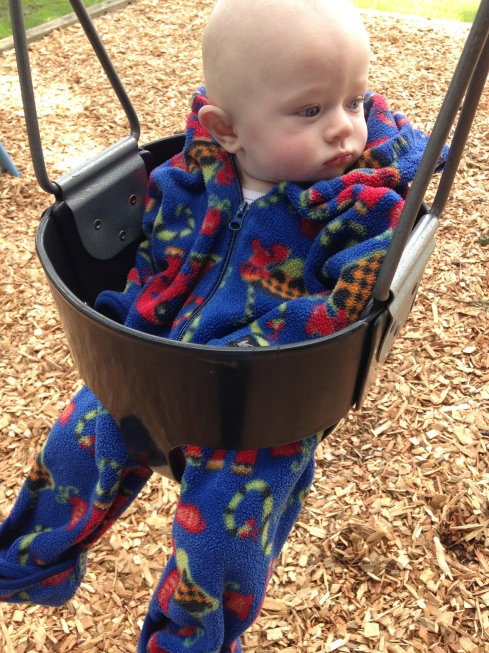 1st time in a swing - April 5, 2015