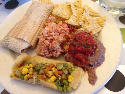 Homemade vegan tamales by my parents - April 11, 2015