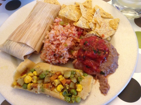 Homemade vegan tamales by my parents - April 11, 2015
