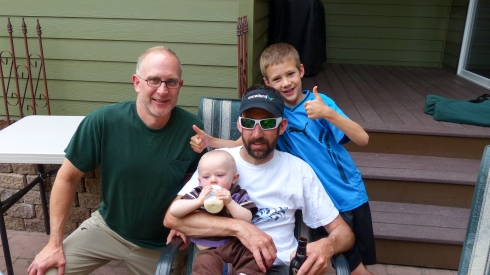 The boys (Eric, Todd, uncle Jason, cousin Eli)