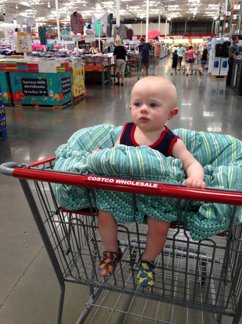 1st shopping cart ride - June 25, 2015