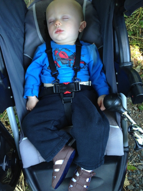 Outdoor nap after a rollerblade - June 27, 2015