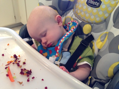 1st time falling asleep during a meal - July 2, 2015