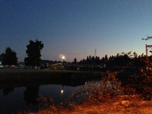 Fireworks over the Swinomish