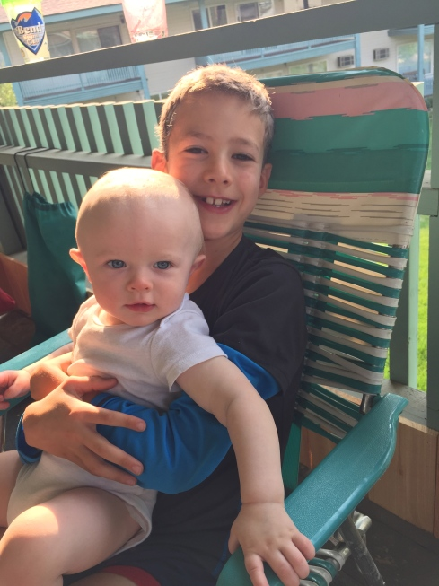 Todd & Eli on the deck - August 12, 2015