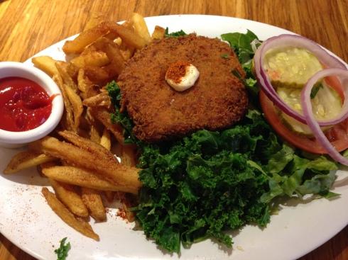 'Crab' Cake, Kale Style (vegan) - Veggie Grill